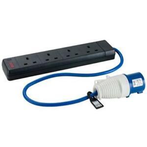 240V 32A Plug to 4 x 13A Socket Converter