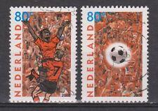 NVPH Nederland Netherlands 1888- 1889 used EK voetbal 2000 Pays Bas soccer