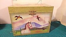"Musical Jewelry Box, Horses,""Running Free"",ENCHANTMINTS, Lemniscate, Inc.2001"