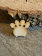 20 wooden paw craft blank embellishments