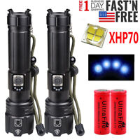 990000LM XHP70 LED Flashlight Lamp Zoomable 5 Modes USB Rechargeable 18650 26650
