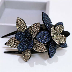 1PCS Fashion Women Rhinestone Flower Duckbill Hair Claws Hair Clip Accessories.
