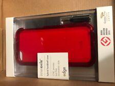 iPhone 5/5S Case - Hybrid Hardshell w/ head phone jack adapter, Red