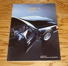 Original 1989 Lincoln Mark VII Deluxe Sales Brochure 89