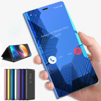 For Samsung A70 A50 A10 S10 Plus Smart Flip Stand Mirror 360° Protective Case