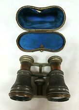 Rare Antique Victorian French Silver Engraved Lamier Fab Opera Glasses Binocular