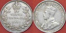 Fine 1935 Canada Silver 10 Cents