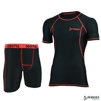 Mens Compression Baselayer Short/Shirt Skin Tight Breathable Sports Rash Guard