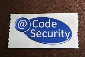 10x @Code Security Sticker Burglar Alarm Bell Box Decoy Dummy Office Home Window