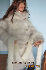 LONG HAIR MOHAIR CARDIGAN/JACKET HAND KNITTED NEW
