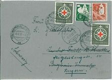 DOVES  TRAFIC LIGHTS  CARS : GERMANY -  POSTAL HISTORY: COVER 1953