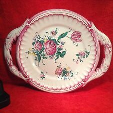 Antique Hand Painted French Faience Platter, ff283 Gorgeous Antique Gift Idea!