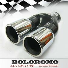 Twin Exhaust Pipes Muffler Chrome Fits Seat Ibiza Alhambra Cordoba Leon Altea