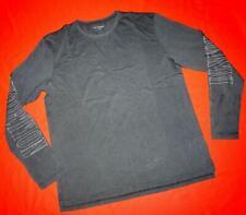 All Saints Graphic Vintage Look Black Dark Grey Long Sleeve T-Shirt Top Size XL