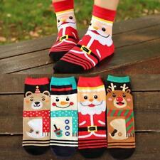 Womens Cute Christmas Socks Warm Winter Cotton Socks Snowflake Deer Xmas FW