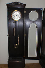 Uhr, Standuhr Eiche Schnitzwerk, 2 Gewichte, um 1925 funktionstüchtig #5012