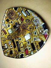 gLASTELLER Handbemalt aufgelöste quadratische Formen Design Einzelstück vergolde