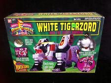 BOXED Mighty Morphin Power Rangers 1993 WHITE TIGERZORD w/ Ranger Bandai