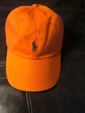 New Polo Ralph Lauren Chino Orange Adjustable Sport Baseball Cap One Size