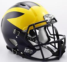 MICHIGAN WOLVERINES NCAA Riddell SPEED Full Size Authentic Football Helmet