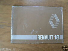 RENAULT 18 19??   HANDLEIDING OWNERS MANUAL,INSTRUCTION BOOK