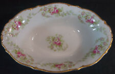 Bawo & Dotter Limoges BWD56 Pink & White Floral Garland Vegetable Dish C. 1900
