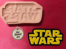STAR WARS logo  silicone mold fondant cake decorating toppers wax soap FDA