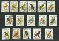 MALAWI 1988 FINE USED SET OF BIRDS TO 10 K ( ONE)