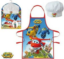 UNISEX GIRLS BOYS KIDS SUPER WINGS CHEF COOK GIFT SET INCLUDES APRON AND HAT