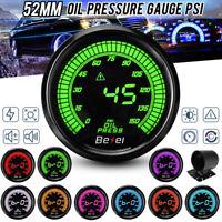 2'' 52mm 0-150PSI Oil Press Pressure Gauge Car Meter Digital LED Display  //