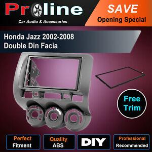 Honda Jazz 2002-2008 GD DOUBLE 2 DIN stereo radio facia Fascia Dash kit Panel