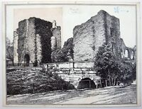 Jenny Wylie (XIX-XX) Ink drawing for Blackie and Son, Glasgow. Maynooth Castle.