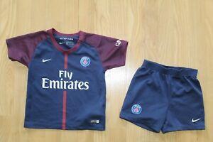 Kids PSG Paris Saint-Germain 2016 2017 Nike Home Shirt Jersey Shorts Full Kit