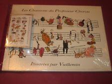 LES CHANSONS DU PROFESSEUR CHORON ILLUSTREES PAR VUILLEMIN AVEC K7 NEUF