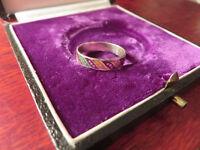 Schöner 925 Silber Ring  Bunt Tutti Frutti Klein Schlicht Email Mexiko Vintage