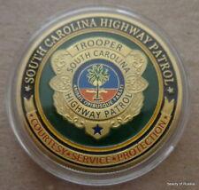 South  Carolina Highway Patrol    24K GOLD  PLATED 40 mm  Challenge  COIN