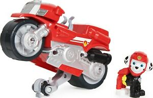 PAW Patrol, Moto Pups Marshall's Deluxe Pull Back Motorcycle Vehicle & Feature