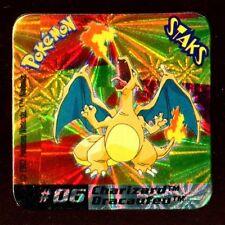 Ω STAKS MAGNET AIMANT POKEMON (Used) N°  06 CHARIZARD DRACAUFEU HOLO
