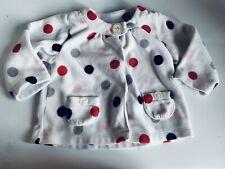 Just One You, Baby Girl 9 Month Fleece Jacket/Sweater, Polka Dot, Euc