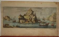 PENÓN DE VELEZ DE LA GOMERA SPAIN 1690 PEETERS RARE ANTIQUE COPPER ENGRAVED VIEW