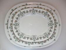 Minton porcelain 3 graduated oblong platters - Adam pattern