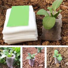 100pcs Non Tissé Jardin Pots Plante Racine Sacs Pochette Semis Légume Nursery NF
