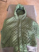 Retail $1495 Post Card of Italy Dark Green Down Ladies ski jacket Sz 42. Luxury
