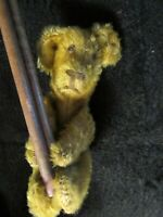 ANTIQUE MOHAIR TEDDY BEAR RARE TUMBLING ACROBAT POLE SCHUCO BING VINTAGE GERMANY