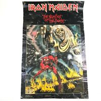 Iron Maiden Number Of The Beast 1982 Vintage Original Promo Poster 34x22 Rough