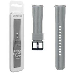 Official Samsung Galaxy Watch (42mm)  Silicon Strap / Band (20mm) - Grey
