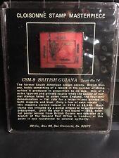 Cloisonne Stamp Masterpiece Csm-9 British Guiana Scott No.14 Bronze