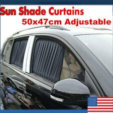Auto Side Window Sun Shade Curtain Car Sunshade Shield UV Protection US POWER