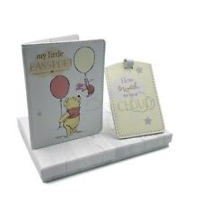 Disney Winnie The Pooh Passport Cover and Luggage Tag Holder Gift DI427