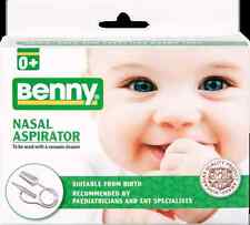 Benny Nasal Aspirator 0+ upto 7yrs old - nose cleaner sinus congestion cold flu